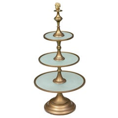 Hollywood Regency Era French Tiered Pastry Server