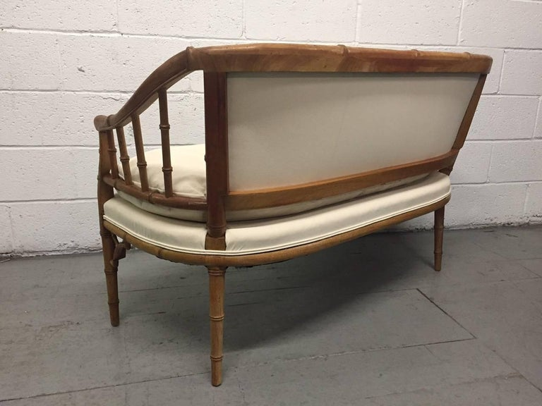 Hollywood Regency Faux Bamboo Sofa In Good Condition For Sale In New York, NY