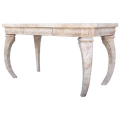 Hollywood Regency Faux Marble Desk