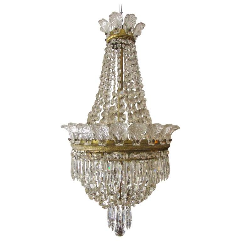 Hollywood Regency Crystal Chandelier Vintage Mid Century Hollywood Regency Crystal Chandelier Teardrop Chandelier