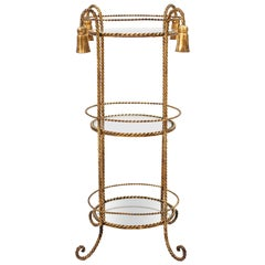 Hollywood Regency Gild Metal Occasional Table