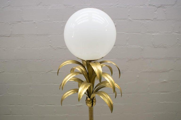 Gilt Hollywood Regency Gilded Pineapple Floor Lamp, 1970s For Sale