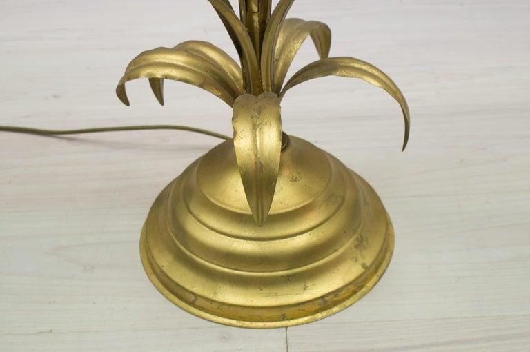 Hollywood Regency Gilded Pineapple Floor Lamp, 1970s For Sale 2