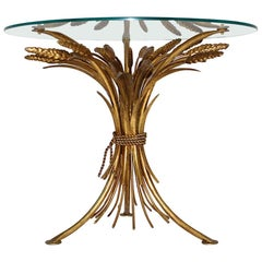 Hollywood Regency Gilded Vintage Coco Chanel Style Coffee Table, France, 1960s