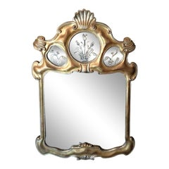 Hollywood Regency Gilt and Etched Mirror