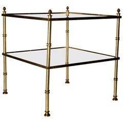 Hollywood Regency Gilt Brass and Aluminium Table