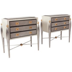 Hollywood Regency Glam 1970s Drawer Cabinets