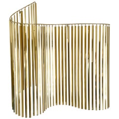 Hollywood Regency Glam Brass / Gold Wall Hanging Sculpture by Curtis Jere