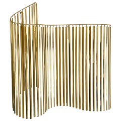 Hollywood Regency Glam Brass or Gold Wall Hanging Sculpture by Curtis Jere
