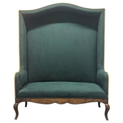 Hollywood Regency High Back Bench