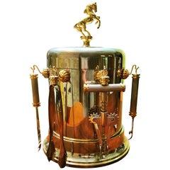 Hollywood Regency Ice Bucket with Bar Set, Italy, 1950s