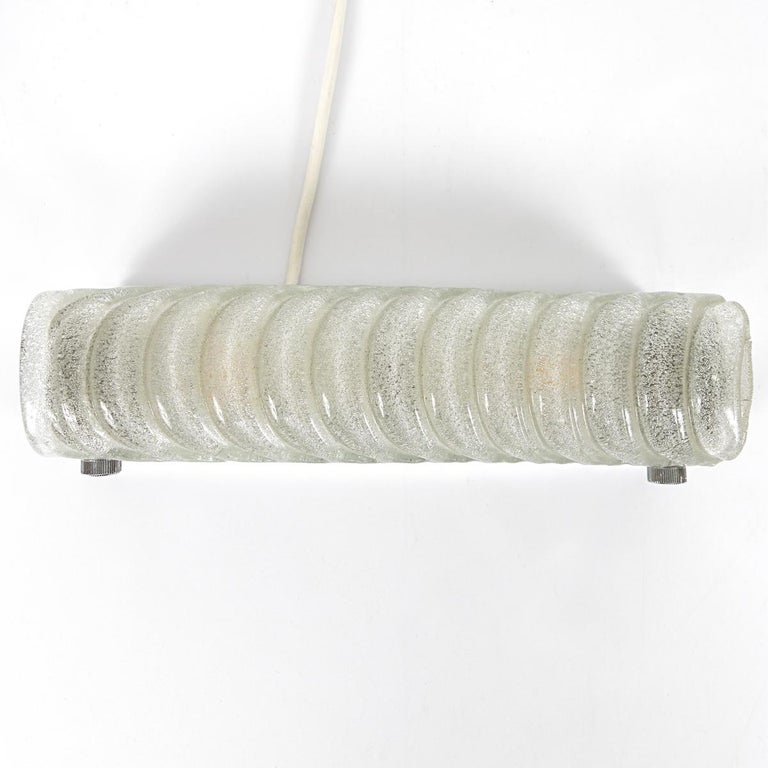 Hollywood Regency Ice Glass Sconce or Flush Mount by Kalmar In Good Condition For Sale In Doornspijk, NL