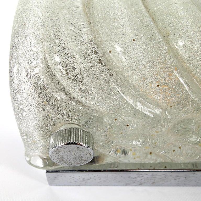 Hollywood Regency Ice Glass Sconce or Flush Mount by Kalmar For Sale 3