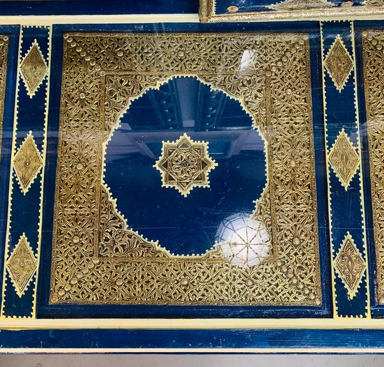 Hollywood Regency Inlaid Blue Large Sideboard, Commode or Dresser For Sale 9