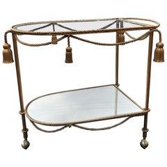 Hollywood Regency Italian Bar Cart