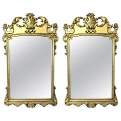 Hollywood Regency Italian Chippendale Style Wall Mirrors