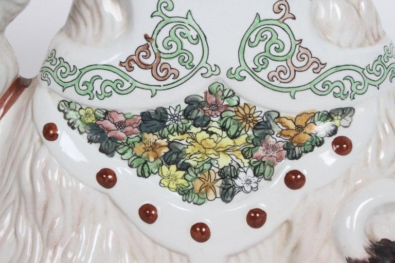 Hollywood Regency Italian Glazed Terracotta Camel Garden Seat or Plant Stand  For Sale 8