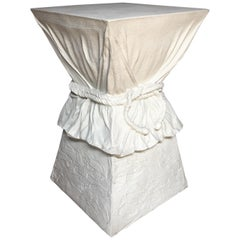 Hollywood Regency John Dickinson Style Draped Rope Side Table