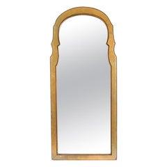 Hollywood Regency Key Hole Mirror with Giltwood Frame