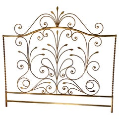 Hollywood Regency King Size Metal Headboard
