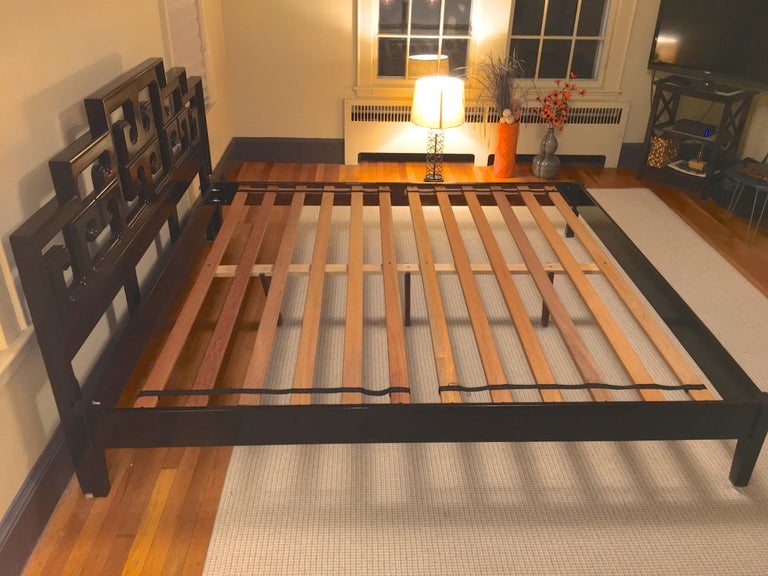 Hollywood Regency King Size Platform Bed And Headboard By Century For Sale At 1stdibs
