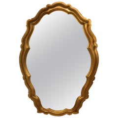 Hollywood Regency Labarge Giltwood Mirror