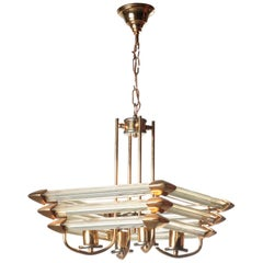 Hollywood Regency Lamp with Prism Glass