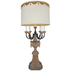 Hollywood Regency Large 1950s Candelabra Lamp by Marbro Lamps