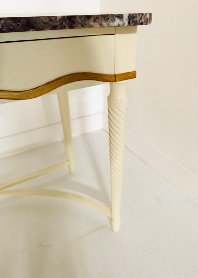 Hollywood Regency Marble-Top Console For Sale 1
