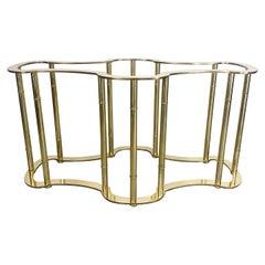 Hollywood Regency Mastercraft Brass Dining Table Base