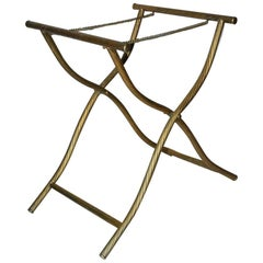 Hollywood Regency Metal Luggage Rack