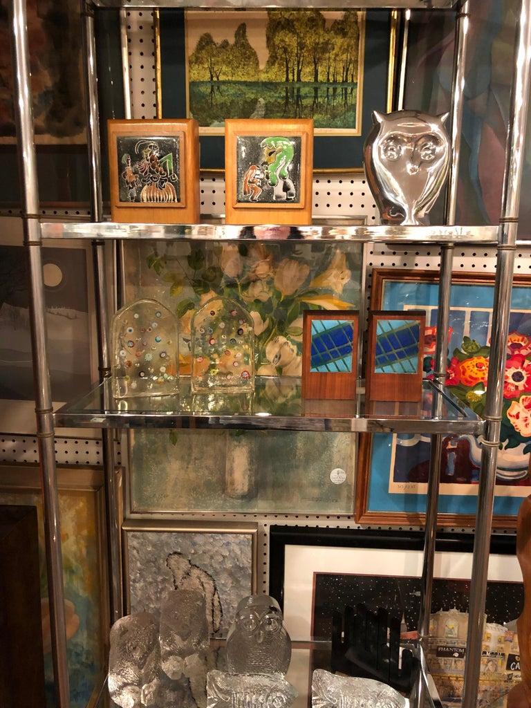 Hollywood Regency Mid Century Chrome and Brass Étagère For Sale 5