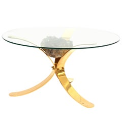 Hollywood Regency Mineral Stones Coffee Table in Jaques Duval Brasseur Style