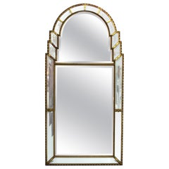 Hollywood Regency Mirror with Giltwood Frame