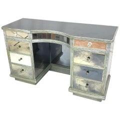 Hollywood Regency Mirrored Decorator Vanity Or Writing Desk