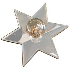 Hollywood Regency Mirrored Star Wall Sconce