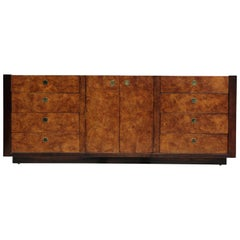 Hollywood Regency Modern Burl Olivewood Dresser