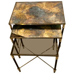 Hollywood Regency Nesting Tables or Stacking Tables Manner of Jansen