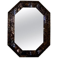 Hollywood Regency Purple Octagonal Mirror