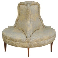 Hollywood Regency Round / Circular Conversation Settee, Sofa, or Bench