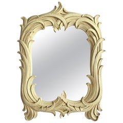 Hollywood Regency Serge Roche Style Palm Foliate Mirror