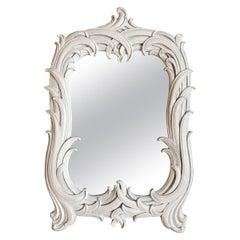 Hollywood Regency Serge Roche Style Palm Foliate Mirror