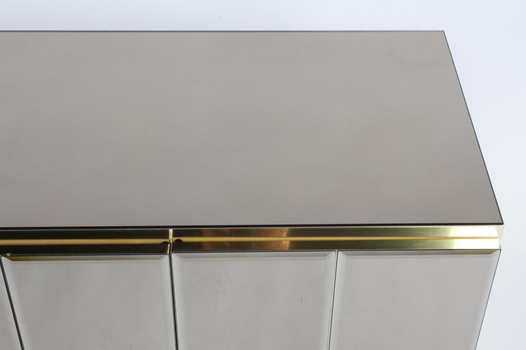 Hollywood Regency Signed Ello Bronze Mirror and Brass Credenza / Sideboard For Sale 7