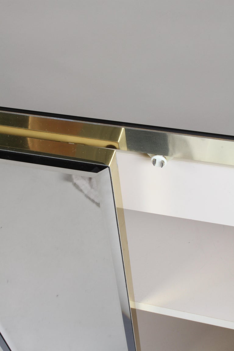 Hollywood Regency Signed Ello Bronze Mirror and Brass Credenza / Sideboard For Sale 3