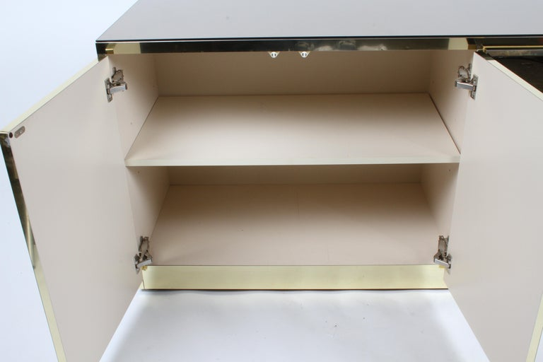 Hollywood Regency Signed Ello Bronze Mirror and Brass Credenza / Sideboard For Sale 4