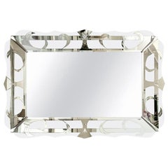 Hollywood Regency Silver Mirror Vintage