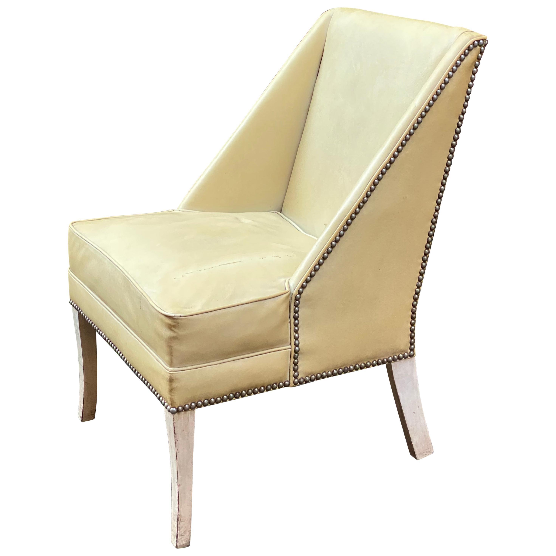 Hollywood Regency Slipper Chair