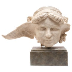 Hollywood Regency Style Bust of a Winged Woman