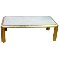 French Gilded Marble Top Skyscraper Style Art Deco Coffee Cocktail Table