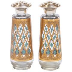 Hollywood Regency Style Culver 22-Karat Gold Salt and Pepper Shakers
